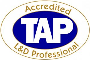 Contact US TAP Accredited L&D Professional logo