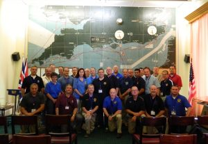 Leadership experiences D-Day Ops Planning Map Room
