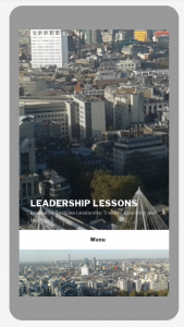 Home Page Leadership Lessons on mobile